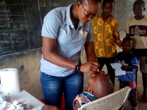An NGO, Blissful Sight for Kids organized free eyes screening for over 500 children in Wa West
