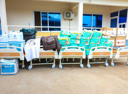 Charia Assemblyman Mobilised 40,000 Cedis  worth of Items for Charia Health Centre.