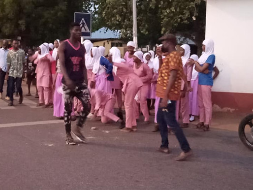 Wa Islamic Girls' SHS students mass up at Police Headquarters over arrest some teachers and mates