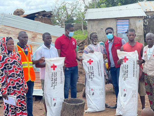 Ghana Red Cross Society provides relief support to flood victims in Upper West