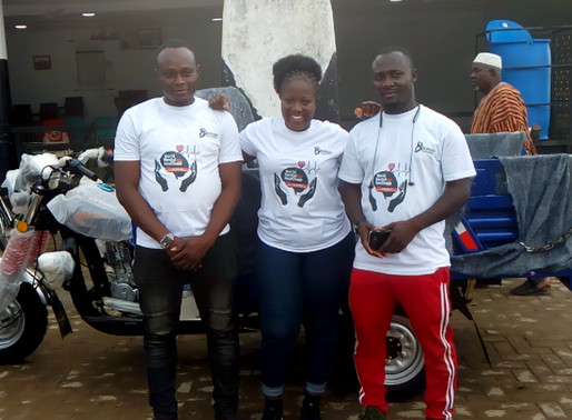 Wa-Naa Donates A Brand New Tricycle Motorbike To Bahass Foundation In Wa