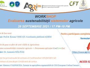 Workshop: Evaluarea sustenabilității sistemelor agricole | 28 sept. 2021