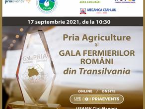 Pria Agriculture & Gala Fermierilor din Transilvania - 17 septembrie 2021, USAMV Cluj-Napoca, 10:30