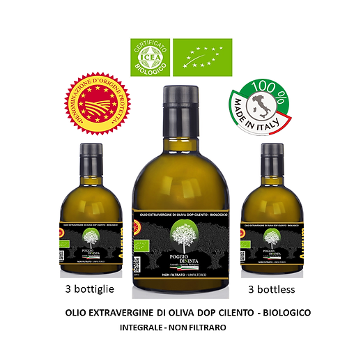 Confezione da 3 bottiglie - AURUM BIO DOP Integrale 0,50 l.