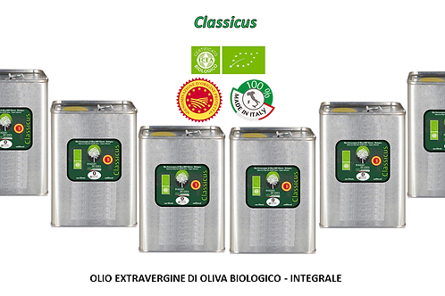 Offerta famiglia Conf. da 6 lattine da 3 litri - CLASSICUS BIO DOP Integrale