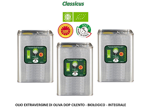 Conf. da 3 lattine da 3 litri - CLASSICUS BIO DOP Integrale