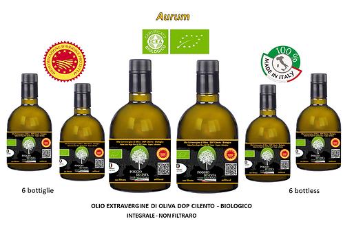 Maxi Confezione da 6 bottiglie - AURUM BIO DOP Integrale 0,50 l.