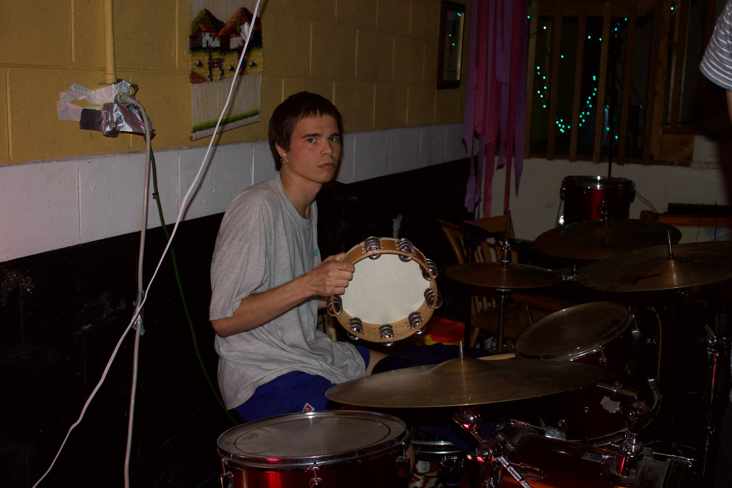 Dylan Taylor, one of the venue's owners, fills in on drums for Self-Help.