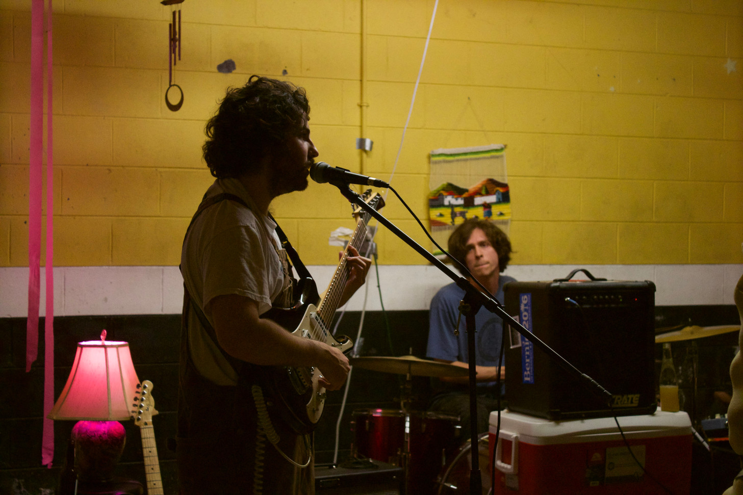 Cole Gorden and his band KrockPot play a few songs during a run through before the April 13 show.