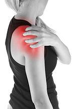 Human shoulder pain with an anatomy inju