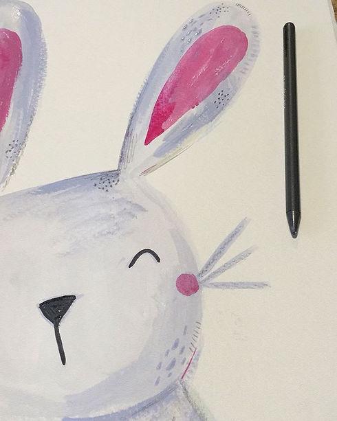 work in progress! 🐰⠀_⠀_#bunny #lauradid