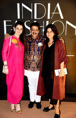 Palka Grover (Luxury President), Gaurav Grover (Founder & Chairman) & Diksha Khanna (Fashion Designer)
