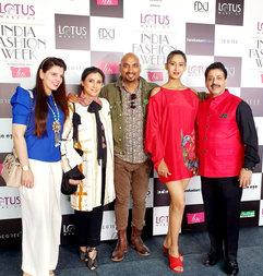 Palka Grover (Luxury President), Rina Dhaka (Fashion Designer), Samat Chauhan (Fashion Designer), ...() & Gaurav Grover (Founder & Chairman)