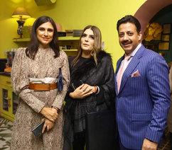 Rina Dhaka (Fashion Designer), Reynu Tandon (Fashion Designer), & Gaurav Grover (Founder & Chairman)