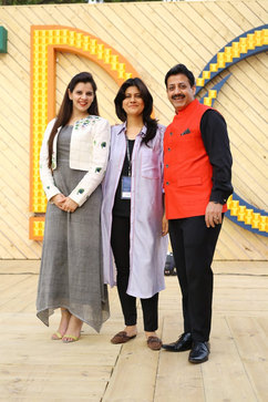 Palka Grover (Luxury President), Diksha Khanna (Fashion Designer), & Gaurav Grover (Founder & Chairman).