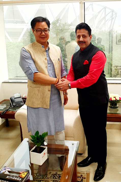 Kiren Rijiju (Current Minister of Youth Affairs & sports) & Gaurav Grover (Founder & Chairman)