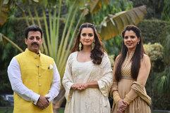 Gaurav Grover (Founder & Chairman), Dia Mirza (Actress) & Palka Grover (Luxury President)