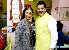 Leena Singh (Fashion Designer) & Gaurav Grover (Founder & Chairman)