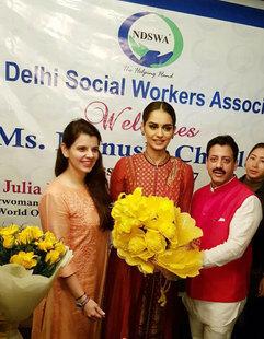 Palka Grover (Luxury President), Manushi Chillar (Miss World 2017) & Gaurav Grover (Founder & Chairman)