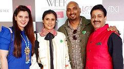 Palka Grover (Luxury President), Rina Dhaka (Fashion Designer), Samant Chauhan (Fashion Designer) & Gaurav Grover (Founder & Chairman)