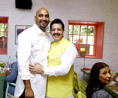 Samant Chauhan (Fashion Designer) & Gaurav Grover (Founder & Chairman)