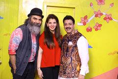 Suketdhir (Fashion Designer), Palka Grover (Luxury President) & Gaurav Grover (Founder & Chairman)