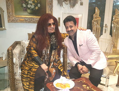 Shahnaz Husain (Founder & Chairperson of The Shahnaz Husain Group.) & Gaurav Grover (Founder & Chairman)