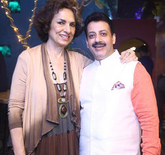 Bina Ramani (Socialist, author, designer, artist & entrepreneur) & Gaurav Grover (Founder & Chairman)