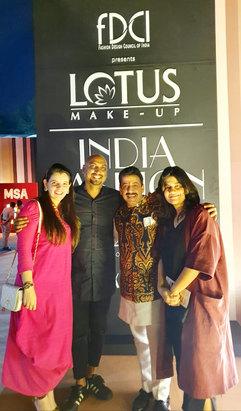 Palka Grover (Luxury President), Samant Chauhan (Fashion Designer), Gaurav Grover (Founder & Chairman) & Diksha Khanna (Fashion Designer)