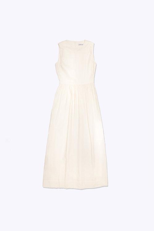 Summer Dress in Cream Linen