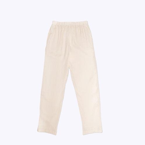 The Slip-On Pant in Cream Linen