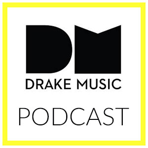 Cover image to accompany the Drake Music podcast