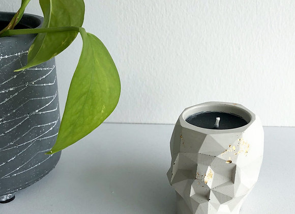 Concrete Skull Candles