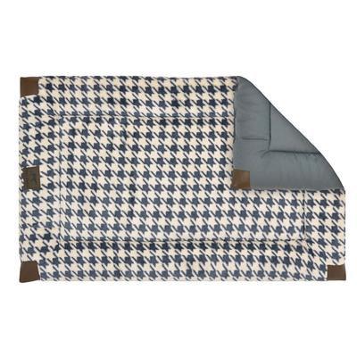 Reversible Houndstooth Fleece Crate Bed