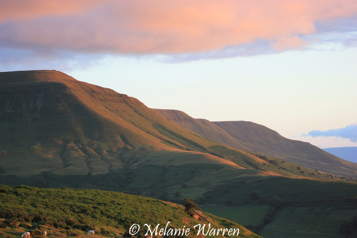 Black Mountains at Sunset