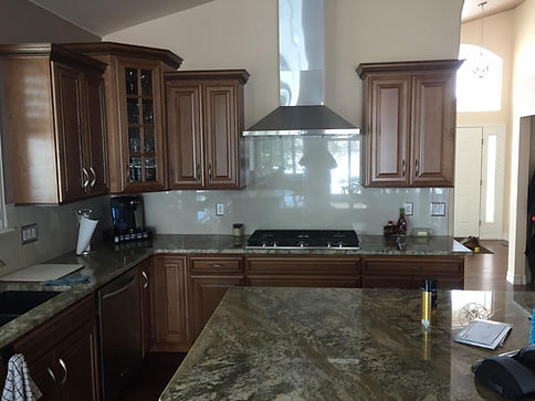 Home improvement contractor kitchen remodel in Roxborough with custom hood