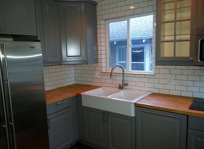 Home improvement contractor in Littleton with Ikea cabinets.