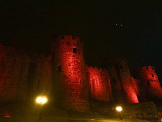 Red Conwy Castle for St David's Day