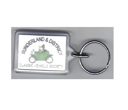 Rectangular Key Ring with SDCVS logo