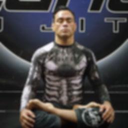 Eddie Bravo Meditating