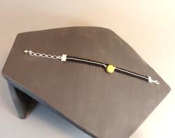 Bracelet céramique argent