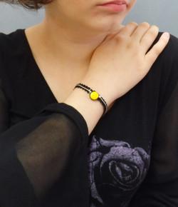Bracelet céramique jaune 32€