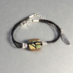 Bracelet céramique vert