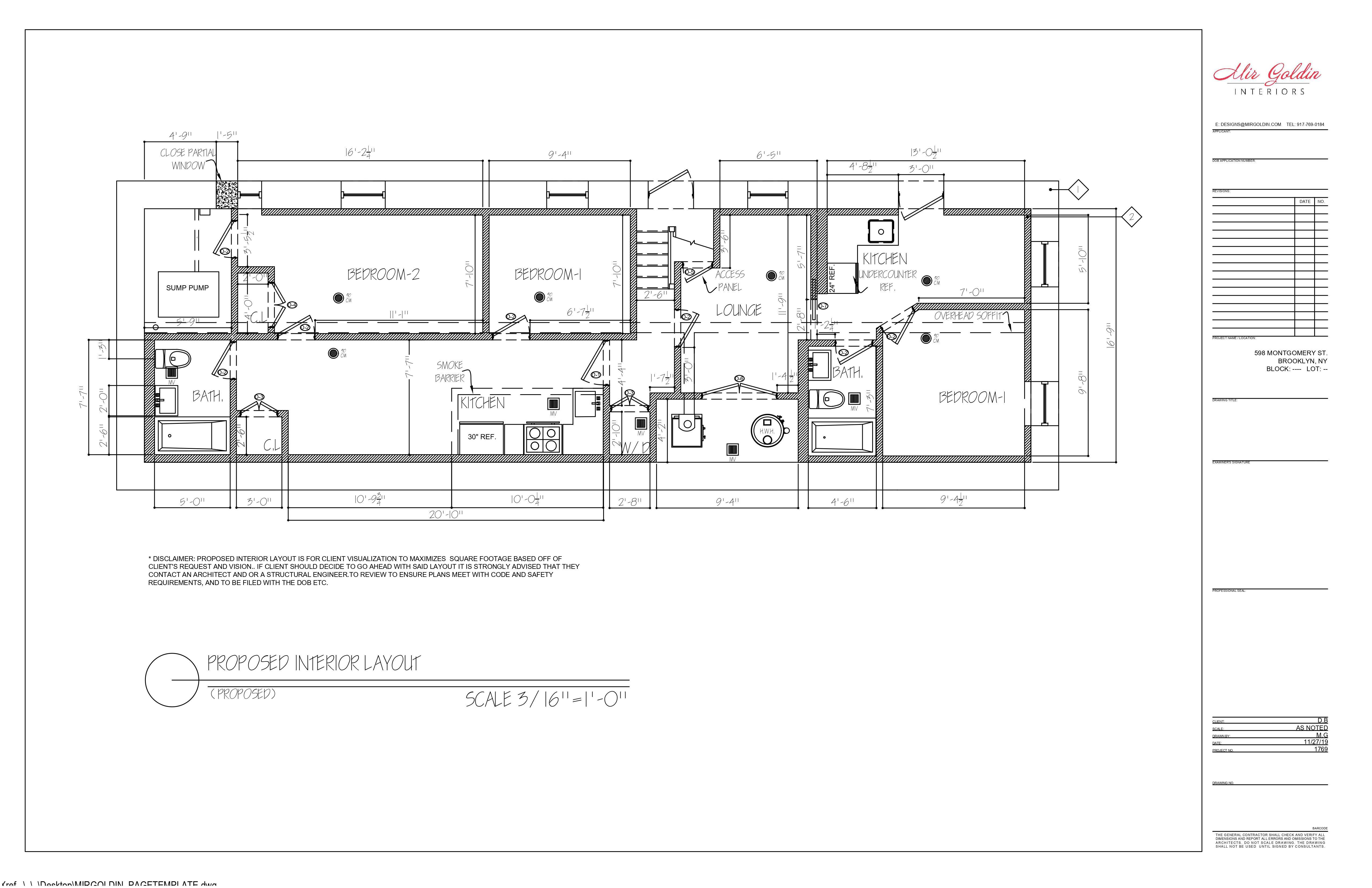 Space planning drawings