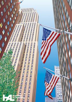 NY Stars and Stripes Flag