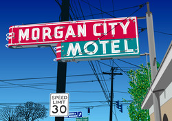 City Hotel Sign
