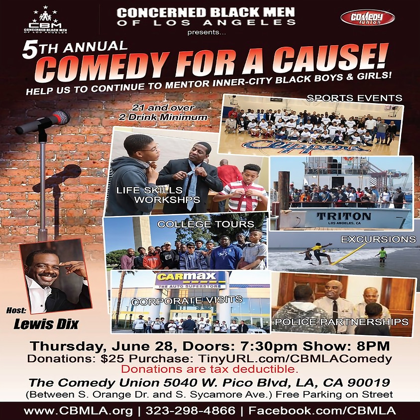 *SPECIAL EVENT* CBMLA presents 5th Annual Comedy for a Cause - 8:00 PM