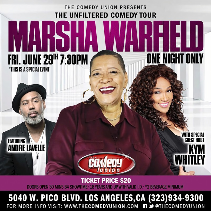 *SPECIAL EVENT* MARSHA WARFIELD - 7:30 PM