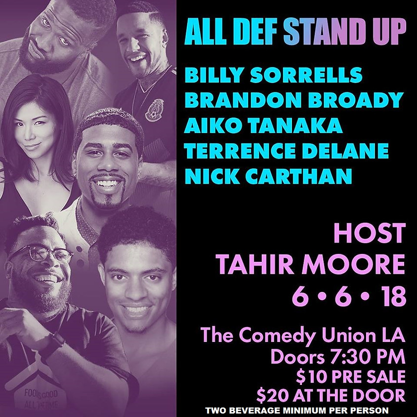 (SPECIAL EVENT SHOW) ALL DEF DIGITAL presents ALL DEF STAND UP - 8:00 PM