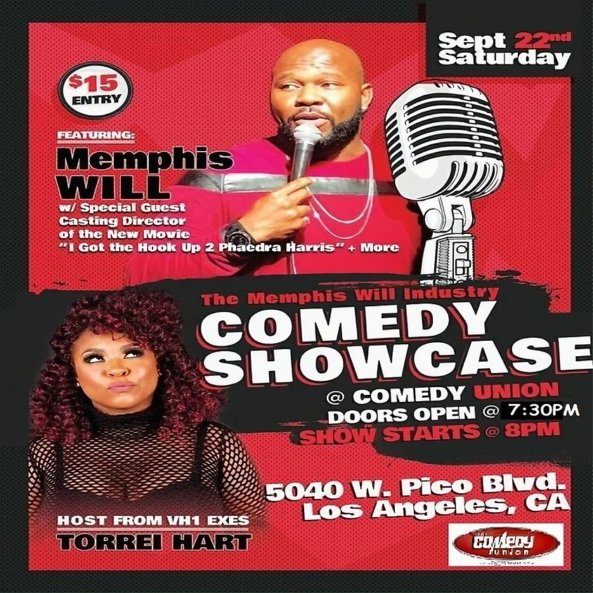 *SPECIAL PRIVATE EVENT* The MEMPHIS WILL Industry Comedy Showcase - 8:00 PM / For Tickets 818-392-9565